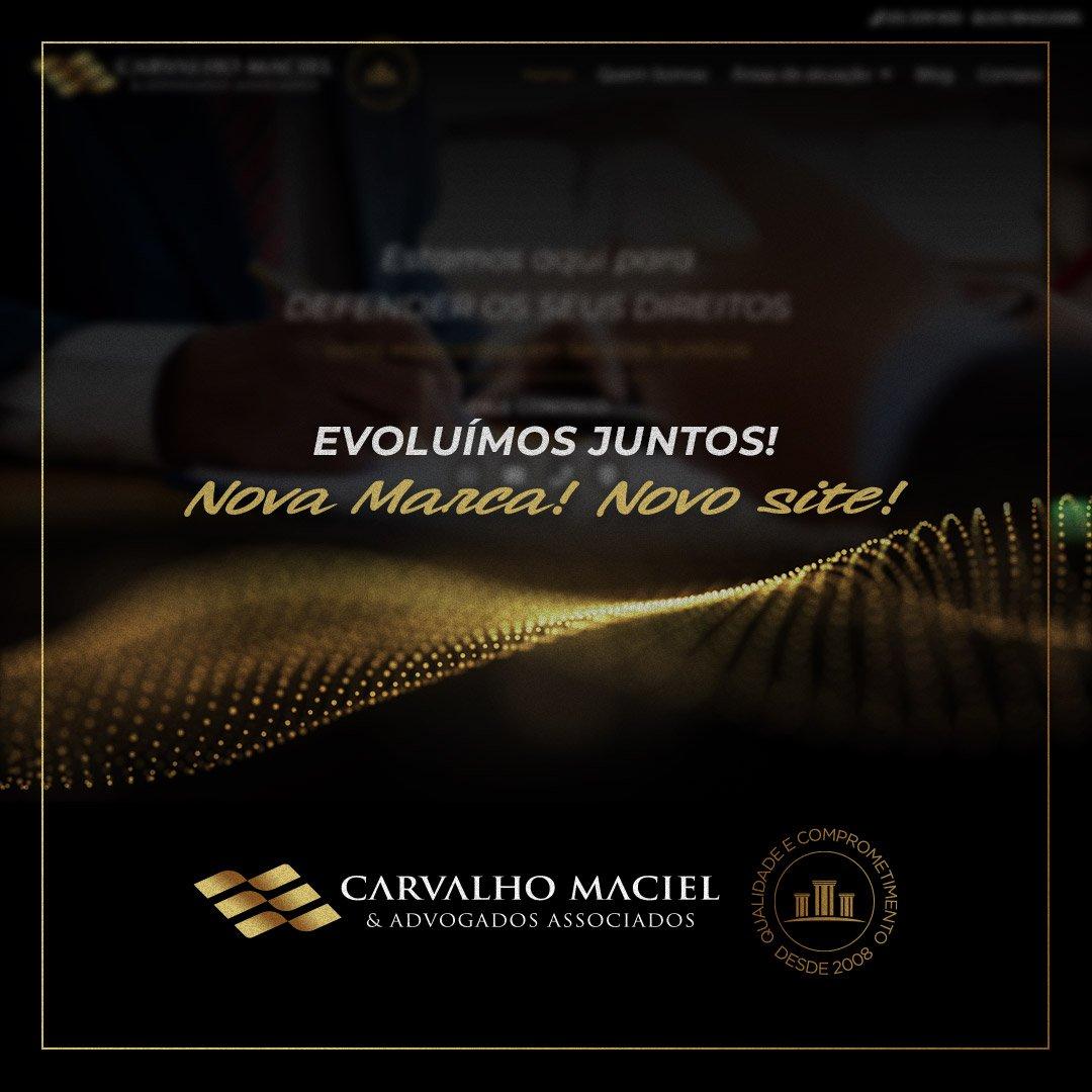 Novo site Carvalho Maciel & Advogados Associados